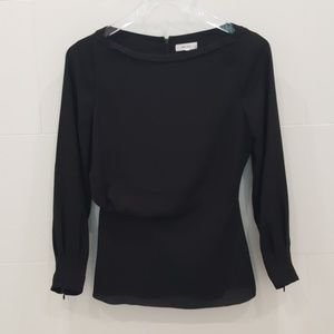 Reiss Long Sleeve, Zippered Back Blouse